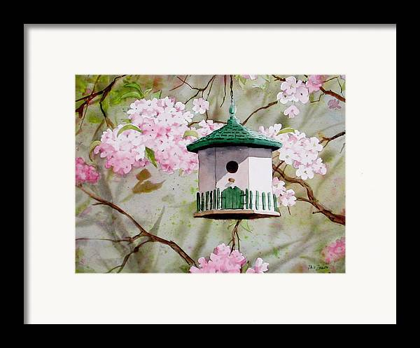 Birds Framed Print featuring the painting Cabin In The Sky by Faye Ziegler