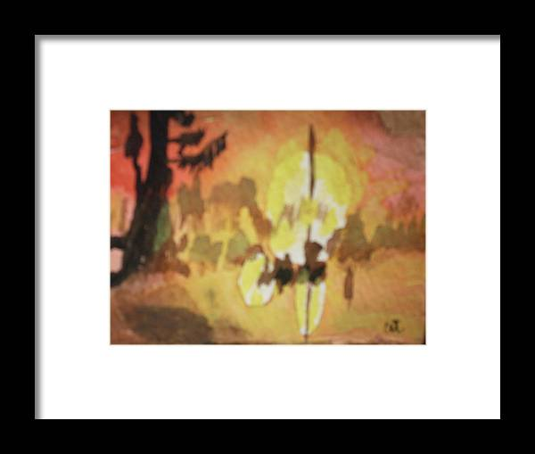 Landscape Watercolor Sunrise Miniture Framed Print featuring the painting Cajun Sunrise by Warren Thompson
