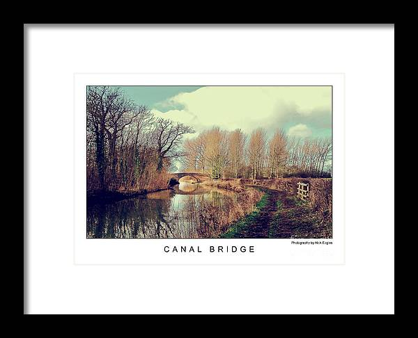 Canal Framed Print featuring the photograph Canal Bridge by Nick Eagles