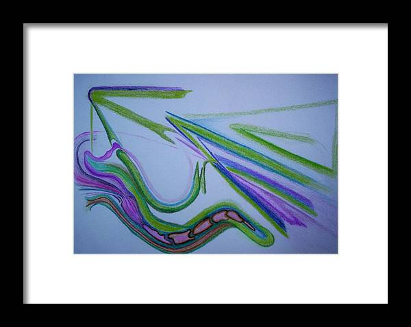 Abstract Framed Print featuring the drawing Canal by Suzanne Udell Levinger