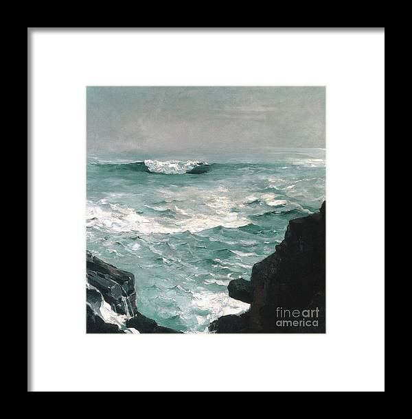 Homer Framed Print featuring the painting Cannon Rock, 1895 1 by Winslow Homer