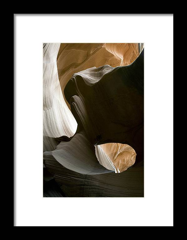 Abstract Framed Print featuring the photograph Canyon Sandstone Abstract by Mike Irwin