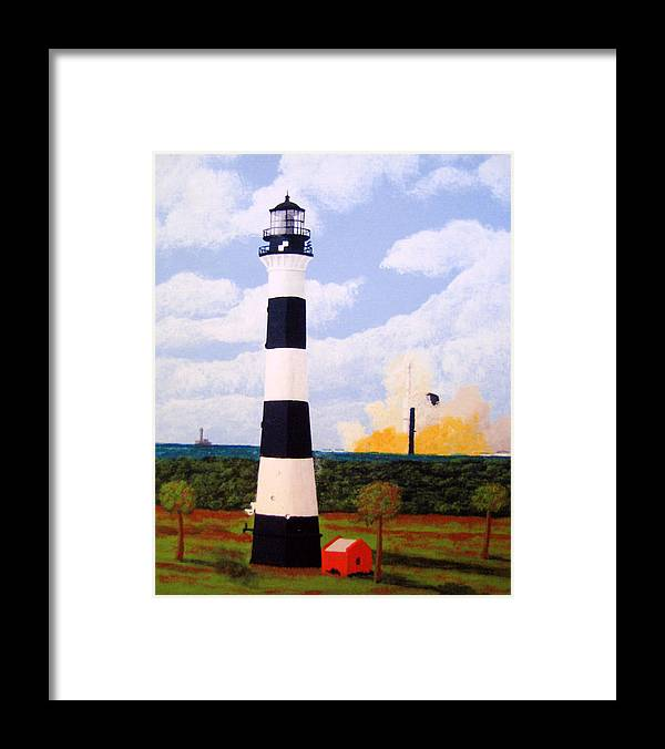 Lighthouse Paintings Framed Print featuring the painting Cape Canaveral Lighthouse by Frederic Kohli