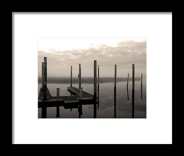 Cape Fear River Framed Print featuring the photograph Cape Fear River by Paul Boroznoff