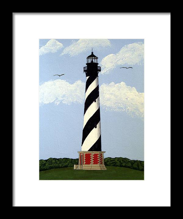 Lighthouse Paintings Framed Print featuring the painting Cape Hatteras Lighthouse by Frederic Kohli