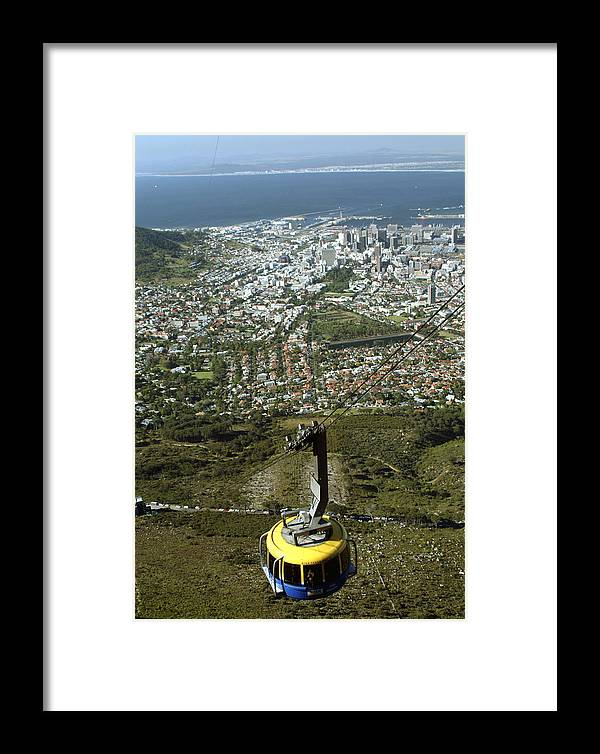 Capetown Framed Print featuring the photograph Capetown Cablecar by Charles Ridgway