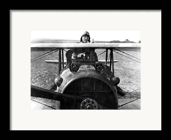 Eddie Rickenbacker Framed Print featuring the photograph Captain Eddie Rickenbacker by War Is Hell Store
