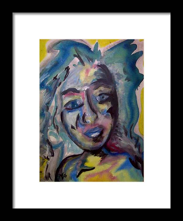 Watercolor Framed Print featuring the painting Cara by Misty VanPool