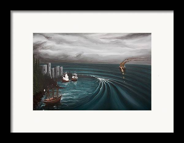 Surf Framed Print featuring the painting Castaway by Ronnie Jackson