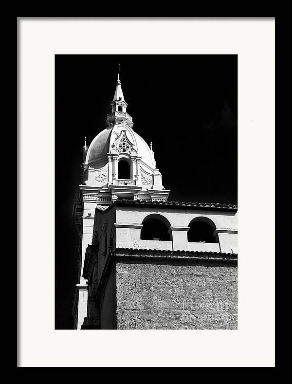 Cathedral In Cartagena Framed Print featuring the photograph Cathedral In Cartagena by John Rizzuto