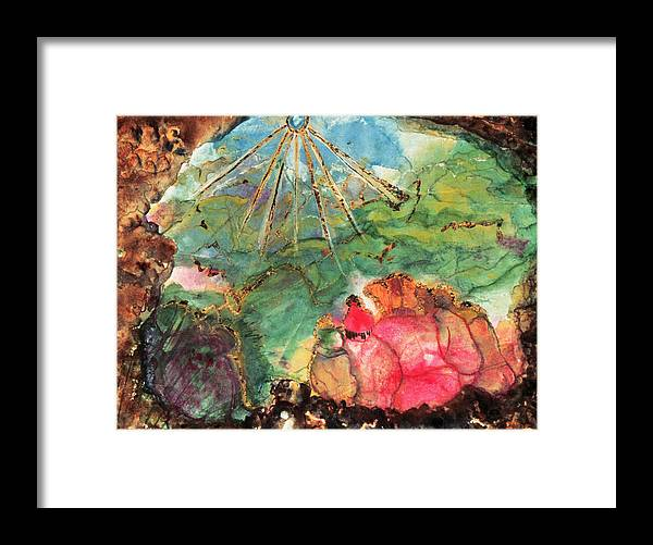 The Spelunkers  Framed Print featuring the painting Cave Of Forgotten Dreams by Ione Citrin