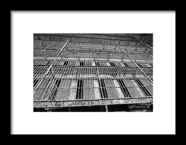 Cell Framed Print featuring the photograph Cell Block by Steve Gass