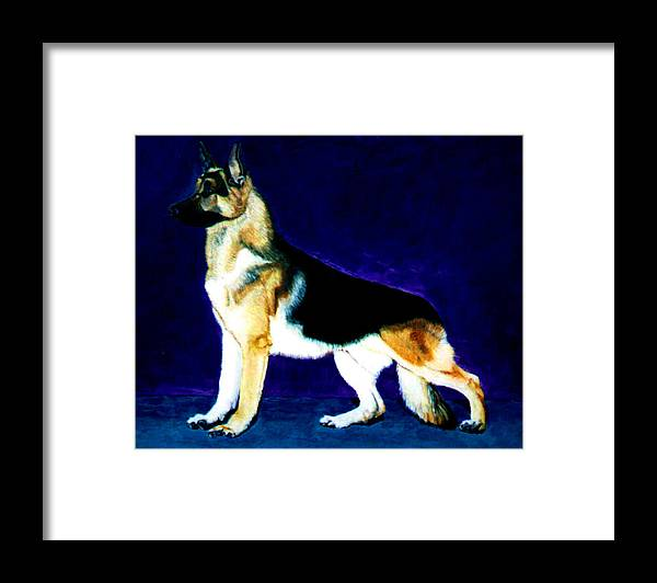 Dog Portrait Framed Print featuring the painting Champion by Stan Hamilton