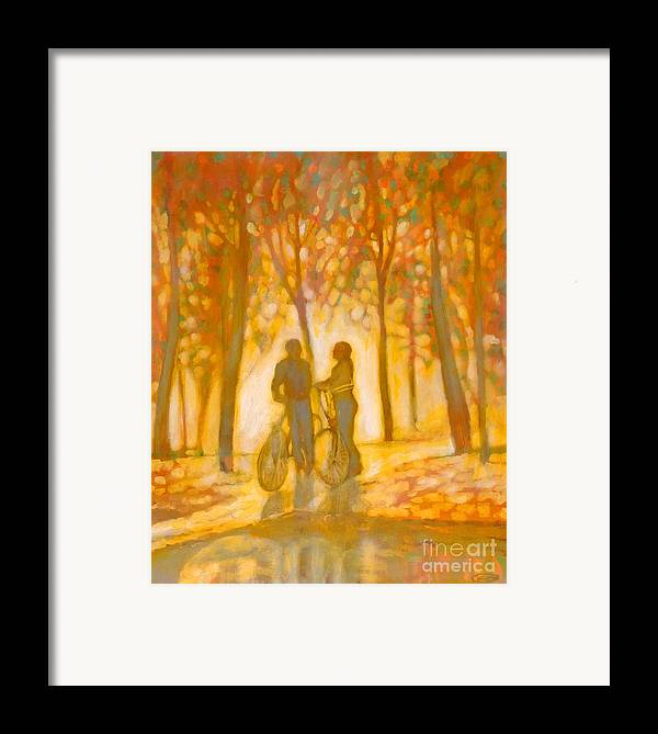 Romance Framed Print featuring the painting Chance Encounter by Kip Decker
