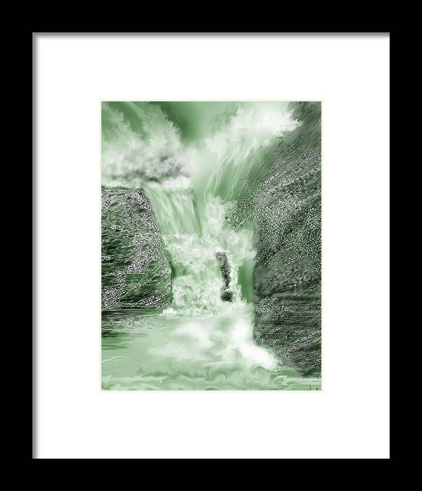 White Water Framed Print featuring the painting Cherry Creek Lower Run by Anne Norskog