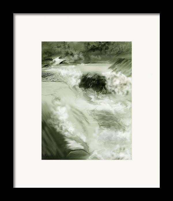 White Water Landscape Framed Print featuring the painting Cherry Creek White Water by Anne Norskog