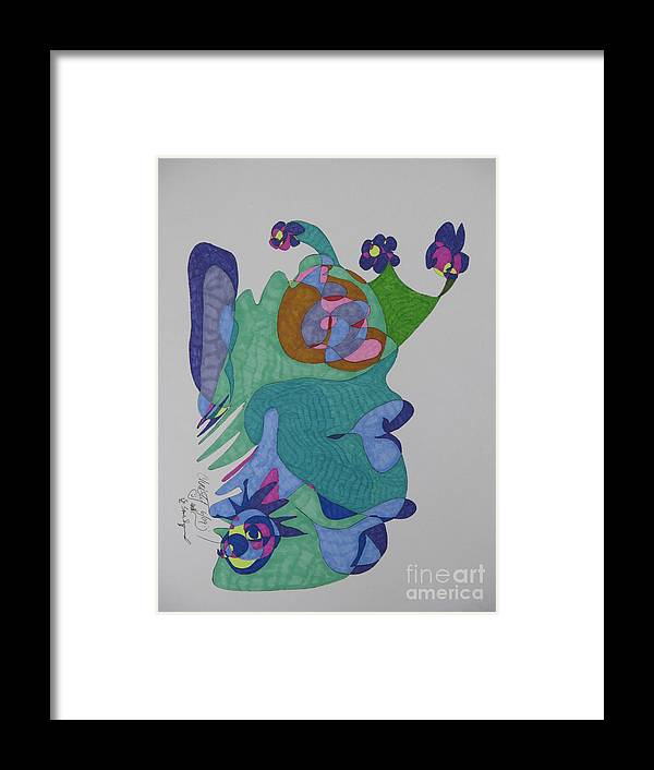 Mask Framed Print featuring the mixed media Christy's Jester by James SheppardIII