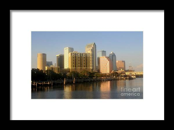 Tampa Florida Framed Print featuring the photograph City By The Bay by David Lee Thompson