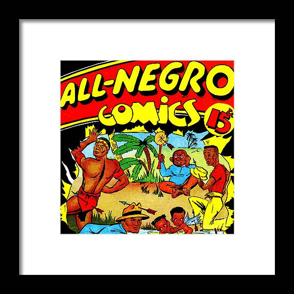 Classic Comic Book Cover All Negro Comics Square Framed Print