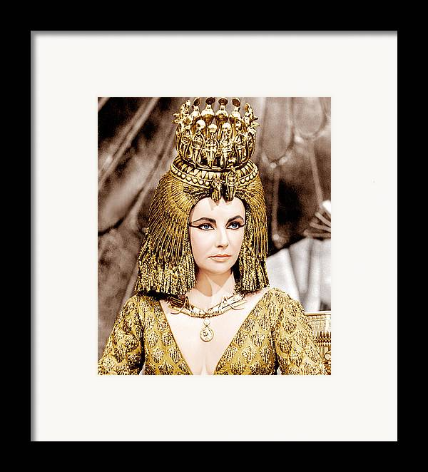 1960s Portraits Framed Print featuring the photograph Cleopatra, Elizabeth Taylor, 1963 by Everett
