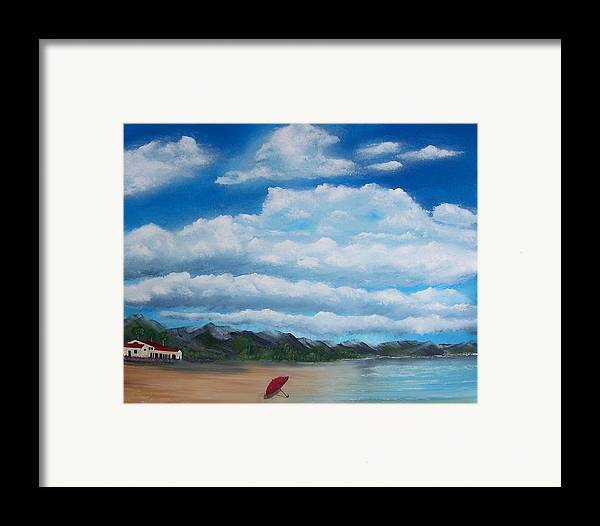 Clouds Framed Print featuring the painting Clouds by Tony Rodriguez