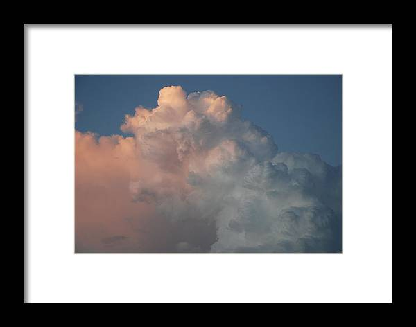 Clouds Framed Print featuring the photograph Cloudy Day by Rob Hans