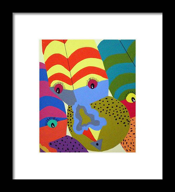 Clown Framed Print featuring the painting Clowns by Tammera Malicki-Wong