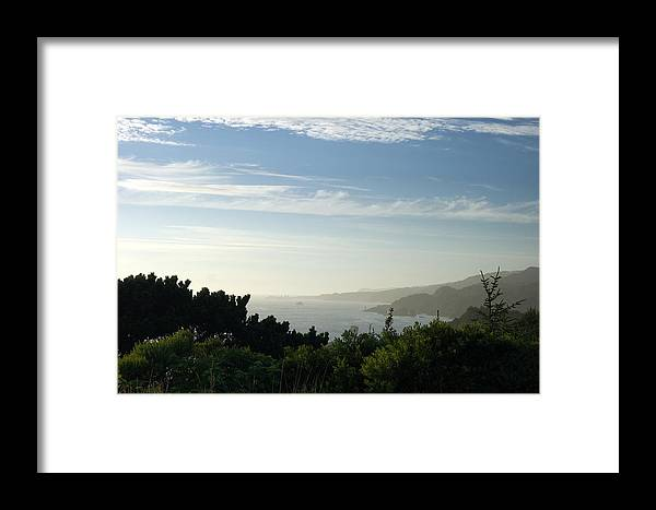 Blue Framed Print featuring the photograph Coastal View by Beth Collins