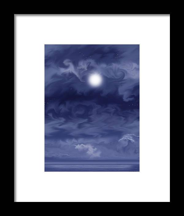 Moon Framed Print featuring the painting Cobalt by Anne Norskog