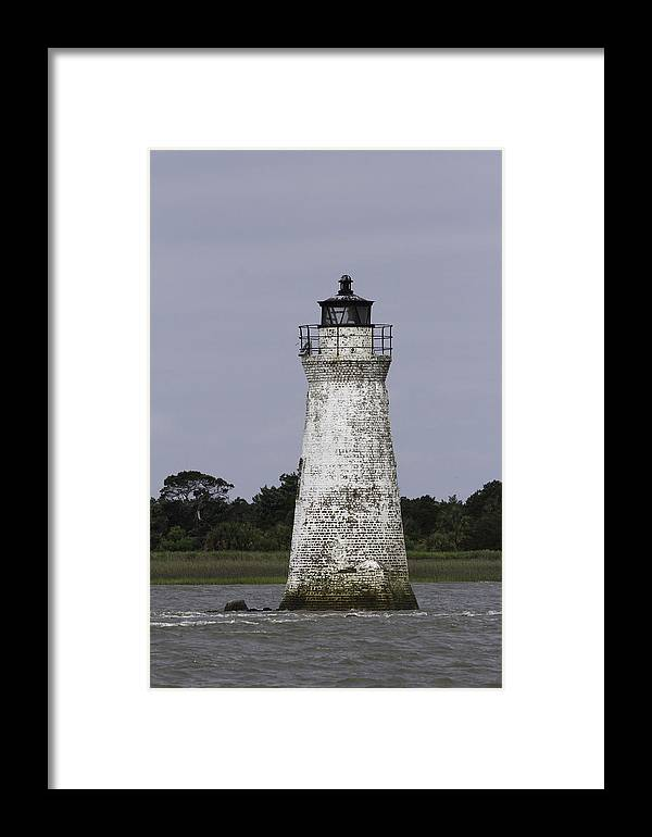 Cockspur Lighthouse Framed Print featuring the photograph Cockspur Lighthouse by Elizabeth Eldridge