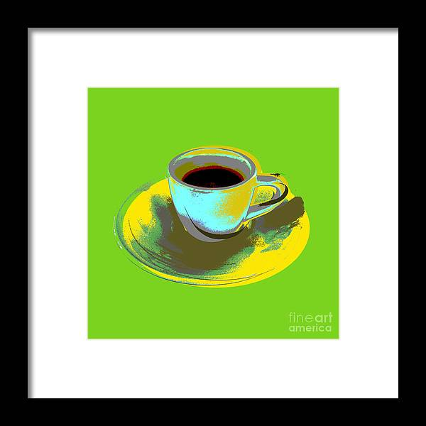 Coffee Cup Pop Art Framed Print by Jean luc Comperat