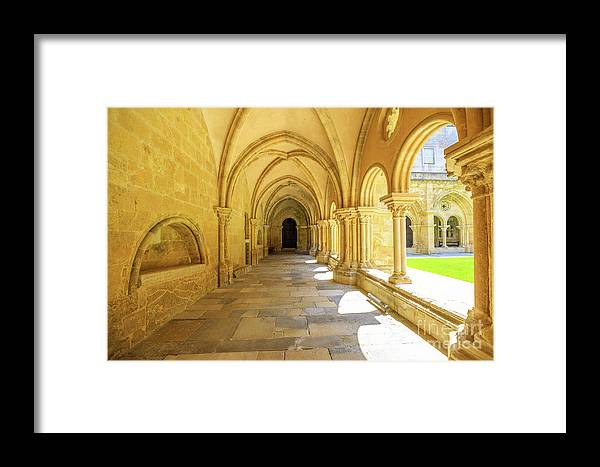 Coimbra Framed Print featuring the photograph Coimbra Cathedral Colonnade by Benny Marty