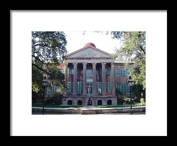 South Carolina Framed Print featuring the photograph College Of Charleston by Richard Marcus