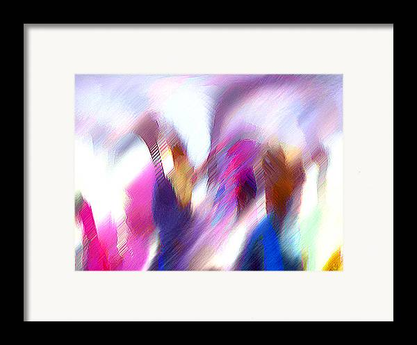 Digital Media Framed Print featuring the painting Color Dance by Anil Nene