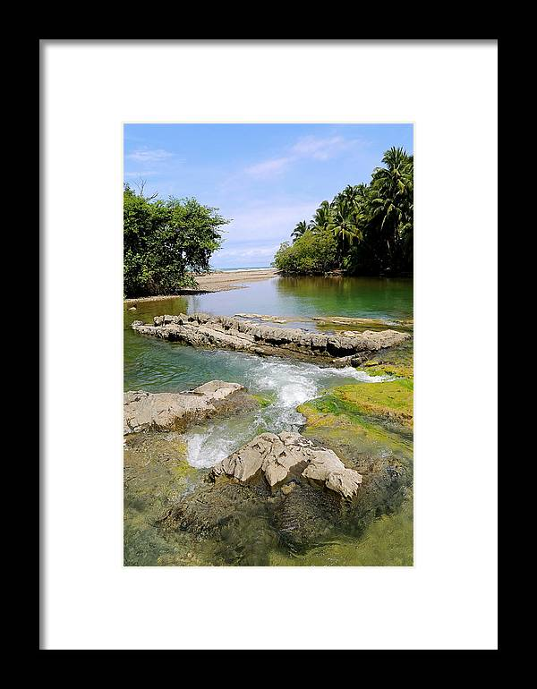 Costa Rica Framed Print featuring the photograph Colorful Waterway by Marc Levine