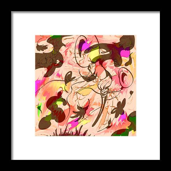 Abstract Framed Print featuring the digital art Colors In The Wind by Rachel Christine Nowicki