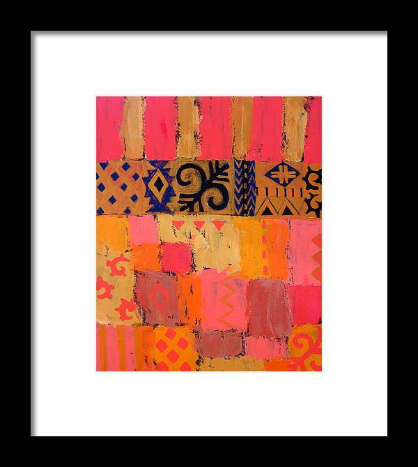 Abstract Framed Print featuring the painting Composition 1 by Aliza Souleyeva-Alexander