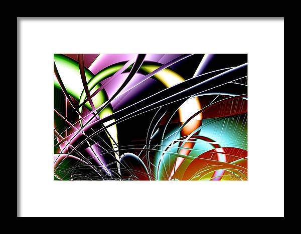 Sterling Framed Print featuring the digital art Connected by Scott Bricker