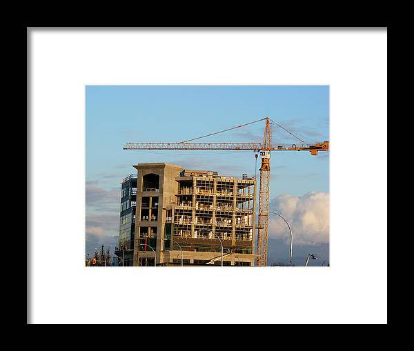 Framed Print featuring the photograph Construction 01 by Attila Jacob Ferenczi