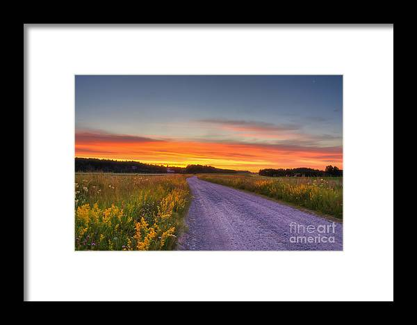 Atmosphere Framed Print featuring the photograph Country Road by Veikko Suikkanen