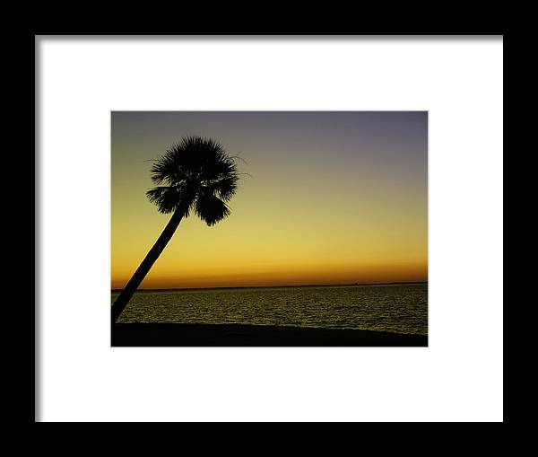 Tropical Framed Print featuring the photograph Crayola Sunset by Florene Welebny
