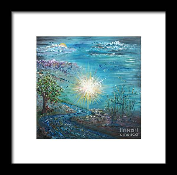 Creation Framed Print featuring the painting Creation by Nadine Rippelmeyer