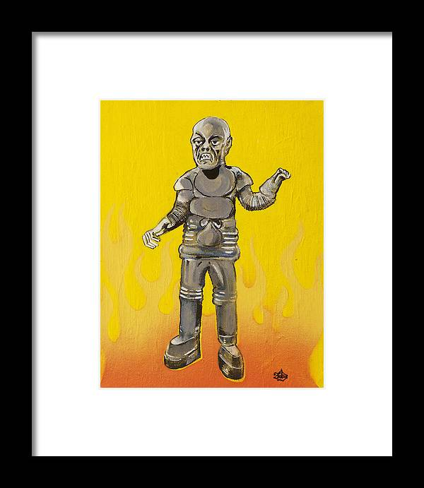 Creeper Framed Print featuring the painting Creeper by Christopher Chouinard