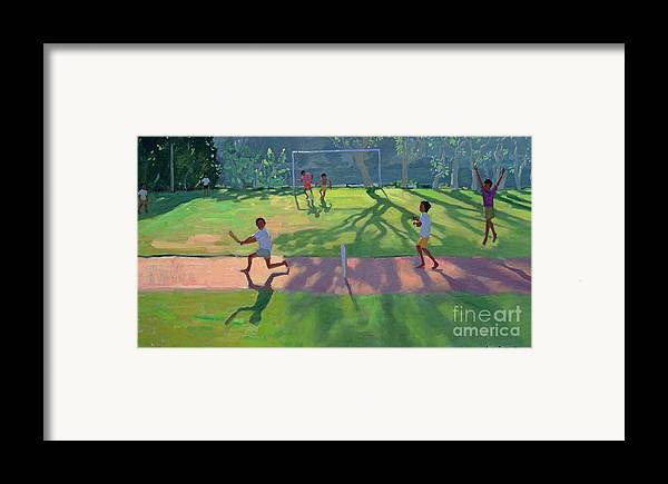 Game Framed Print featuring the painting Cricket Sri Lanka by Andrew Macara