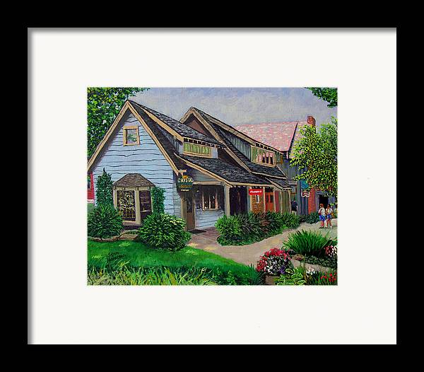 Landscape Framed Print featuring the painting Crystal Source Daily Grind by Stan Hamilton
