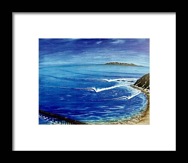 Danapoint Framed Print featuring the painting Dana Point 1950s by Paul Carter