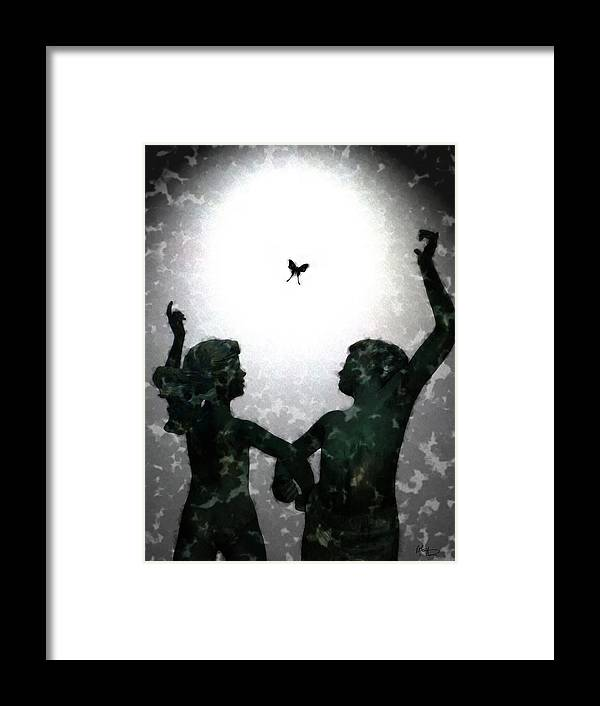 Dance Framed Print featuring the digital art Dancing Silhouettes by Holly Ethan