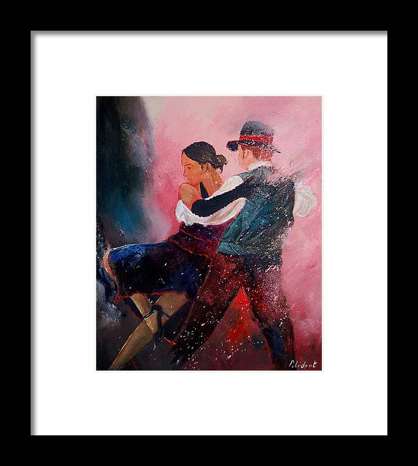 Music Framed Print featuring the painting Dancing Tango by Pol Ledent