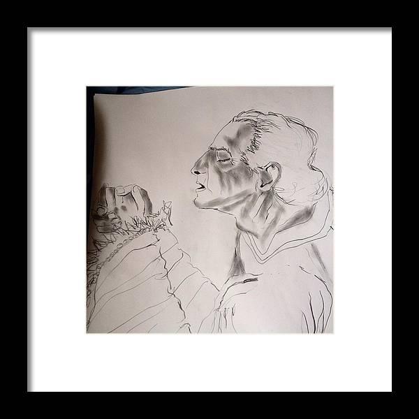 Daniel Framed Print featuring the drawing Daniel Praying by Love Art Wonders By God