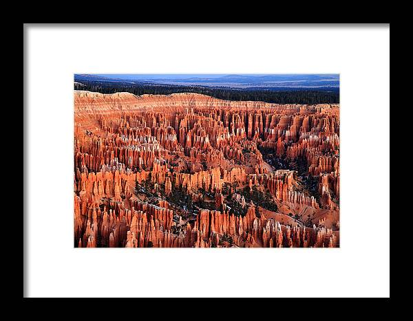 Bryce Framed Print featuring the photograph Dawn In Bryce Canyon by Pierre Leclerc Photography